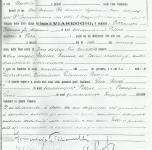 1920 Moses Levy testimone all'atto di nascita