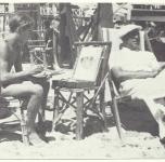 1933 a Viareggio sulla spiaggia