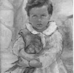 1942 Bambina con piccione