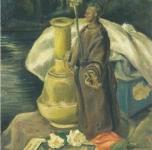 1943 Natura morta romantica  olio su cartone cm 35x25
