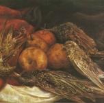 1946 Natura morta autunnale olio su tela 45,5x35,5