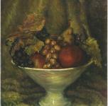 1949 Natura morta con fruttiera  olio su cartone telato cm 40x30