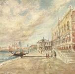 1952 Venezia, Palazzo Ducale  olio su tela cm 61x46