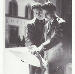 1952 A Firenze con il pittore Guido Borgianni