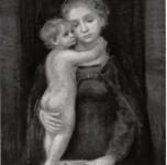 1952 Madonna con bambino olio su tela cm 80x60
