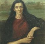 1956 La donna del fiume  olio su tela cm 83x65