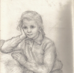 1957 Annetta  matita su carta cm 30x22