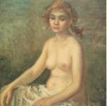1957 Fanciulla con il fiocco  olio su tela cm 56,5x42