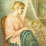 1959  Maternità  olio su tela cm 73,5x61