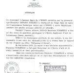 1964 Lettera dell'Unesco per la attività in Congo