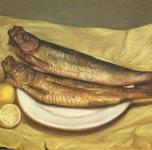 1969  Aringhe e limoni  olio su tela cm 55x38