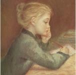1969  Bambina che scrive  olio su tela cm 45x35
