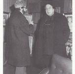 1972 A Firenze, Galleria Guelfa, con l'artista Pietro Annigoni