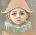 1973  Lorenzo (piccolo Pierrot)  olio su tavola cm 21x16