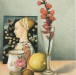1973  Omaggio al Pisanello  olio su tela cm 33x24