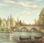 1973  Pont à Moret  olio su tela cm 46x61