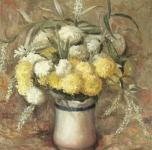 1974  Fiori d'autunno  olio su tela cm 46x38