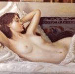 1978  Nudo sdraiato  olio su tela cm 27x41