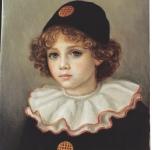 1982  Piccolo Pierrot  olio su tela cm 41x33
